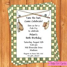 Free Birthday Invitation Template For Adults Card Size Fish Fry