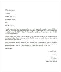 donation request letter for school donation request letter 8 free download for word