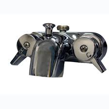 pegasus 2 handle claw foot tub faucet in polished chrome