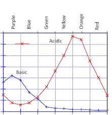 what color is this indicator in acid and basic solution