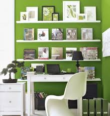 office decoration images. Home Office Decoration. Combine Green Wall And White Shelves For Open Decor Ideas With Decoration Images T