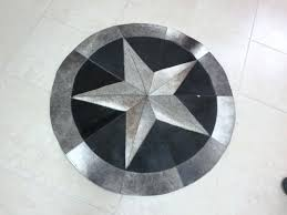 good round cowhide rug or handmade high quality cowhide rug leather cow hide steer patchwork area
