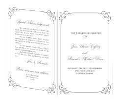 Wedding Ceremony Brochure Free Wedding Ceremony Program Template