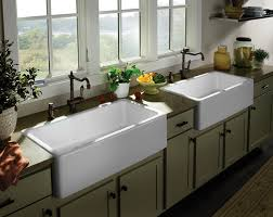 farmhouse kitchen sinks with drainboard