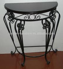 wrought iron indoor furniture. iron table half round console wrought indoor furniture
