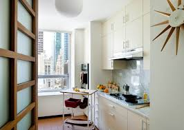 Small Narrow Kitchen Apartment Small Narrow Apartment Kitchen Design With Indoor
