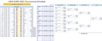 It will be the second edition since it was expanded to 16 teams. Uefa Euro 2020 2021 Schedule Excel Template Excel Vba Templates