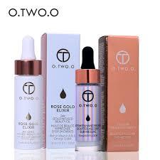 2pcs lot 24k rose gold elixir skin make up oil liquid highlighter make up highlighter liquid glow illuminator in primer from beauty health on
