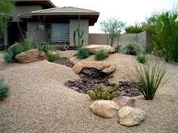 Stunning Desert Landscape Inspiring Ideas For Front Yard Home Pertaining To  Front Yard Desert Landscaping Ideas Attractive Front Yard Desert Landscaping  ...