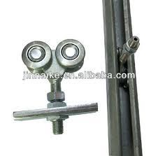 door roller track carbon steel hanging door roller track sliding door wheel track roller door track