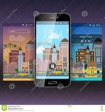 Mobile App Application Background ...