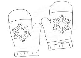 Small Picture Winter Clothing coloring page Gloves Coloring Page