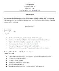 Resume Examples For Highschool Students New Sample Of A High School Resume High School Resume Template Word