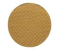 oriental weavers riviera round yellow area rug