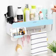 bathroom wall shelf organizer with
