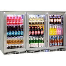 rhino 3 door alfresco outdoor glass door bar fridge model gsp3h ss