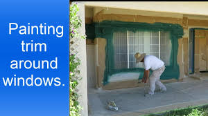 how to paint exterior window trim