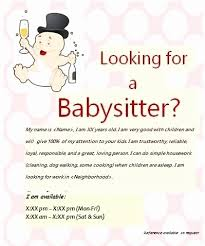 Babysitting Ads Babysitter Flyer Examples Lovely 90 Customizable Design Templates