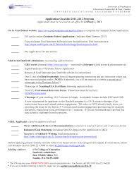 Graduate School Application Resume Examples