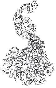 cool designs to trace. Beautiful Cool Rich Line Work Soft Swirls Bring This Exquisite Peacock To Life Downloads  As A PDF Use Pattern Transfer Paper Trace Design For Handstitching To Cool Designs Trace