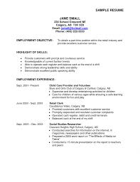 Cover Letter Resume Objective Examples Part Time Job For Clerical