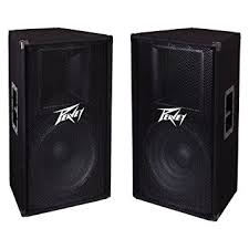 speakers in amazon. peavey pv 115 2-way 15\u0026quot; 800w active pro dj live sound speaker system speakers in amazon h