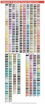 Gutermann Embroidery Thread Chart Embroidery Thread Exchange Chart Madeira Thread