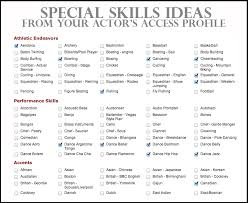 Astounding Acting Resume Special Skills 68 With Additional Resume Examples  with Acting Resume Special Skills