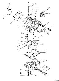 Carburetor assembly for mariner mercury 50 60 hp 3 cylinder