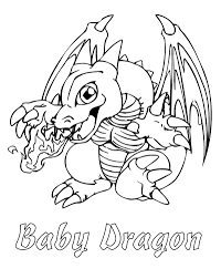 Baby Dragon Coloring Pages Easy Free Coloring Pages
