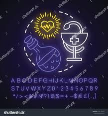 Alchemy Of Light Healing Healing Spell Neon Light Concept Icon Stock Vector Royalty
