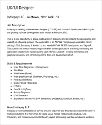 Ux Designer Job Description UX Designer Job Description Sample 100 Examples in Word PDF 2