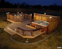 above ground pool with deck and hot tub. Jacuzzi On Above Ground Pool Deck - Google Search With And Hot Tub B