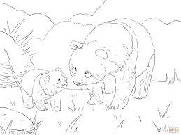 Coloriage M Re Panda Et Ourson Mignon Coloriages Imprimer Dessins A Imprimer Bebe Panda A Colorier Voir Le Dessin Voir Le Dessin Voir Le Dessin L