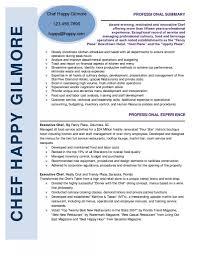 Resume Examples For Chefs Resume Online Builder