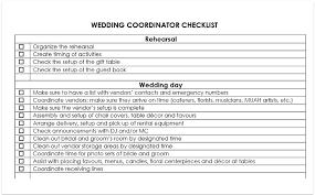 Wedding Coordinator Checklist Wedding Coordinator Checklist Download Free Pdf And Word