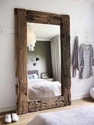 floor mirror. Rustic Floor Mirror Drift Wood Oversized