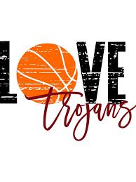 Basketball Cheer Shirt Designs Love Trojans Basketball Distressed Svg Basketball Shirt