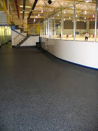 dinoflex flooring in the calgary ice arena recycled rubber stands up to the wear and tear from skate blades