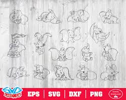 Free svg image & icon. Dumbo Svg Dxf Eps Png Clipart Silhouette And Cutfiles