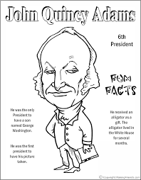 Small Picture John Quincy Adams Coloring Page Coloring Pages Pinterest