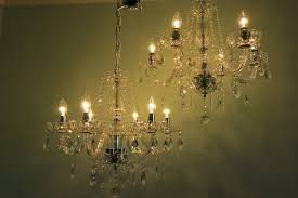 gorgeous pair of large elegant 6 light french style crystal chandeliers