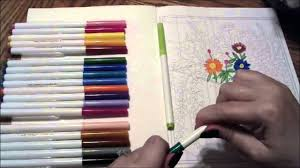 coloring with markers. Interesting Coloring ASMR  Coloring With Markers  Using Gardens To Color Book Tingly And  Relaxing YouTube And U