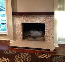 stacked stone tile fireplace decorating appealing design with antique screen over brick distinctive