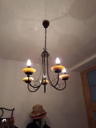 Kronleuchter Deckenlampe Lüster Braun