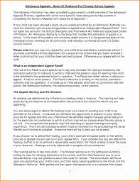 How To Write A School Admission Appeal Letter New 7 Resume For No