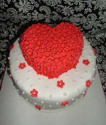 2 Tier Heart Shaped Designer Theme Birthday Wedding Engagement Cakes