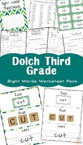 Third Grade Dolch Sight Words Free Dolch Third Grade Sight Words Worksheets Fun With Mama