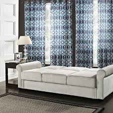 Geometric Patterned Curtains Living Room Blue Print Curtains Airmaxtn