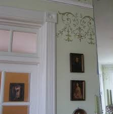 Decorative Door Frame Base Wood Rosettes Design